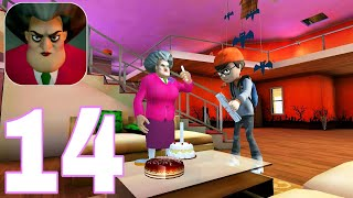 Scary Teacher 3D| New Halloween Update | Gameplay Walkthrough | PART 14 (iOS, Android)