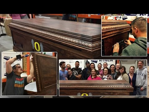 Siblings Come Together To Build Customized Coffin For Contractor Brother