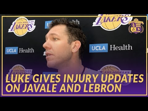 Lakers Interview: Luke Walton Gives An Injury Update On JaVale McGee and LeBron James