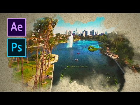 Transform Your Videos Into A Moving Watercolor With Photoshop & After Effects!!