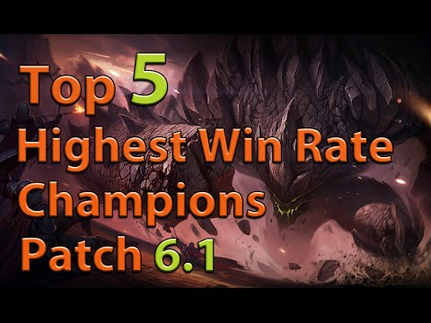 league of legends top 5 highest win rate champions patch. Black Bedroom Furniture Sets. Home Design Ideas