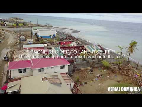 ROSEAU DESTROYED BY HURRICANE MARIA (2wks)! AERIAL DOMINICA