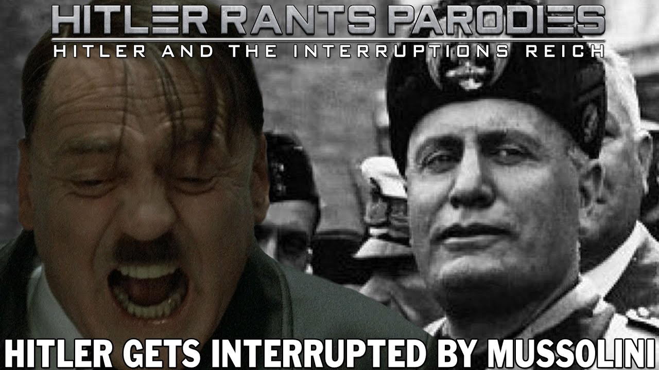 Hitler gets interrupted by Mussolini