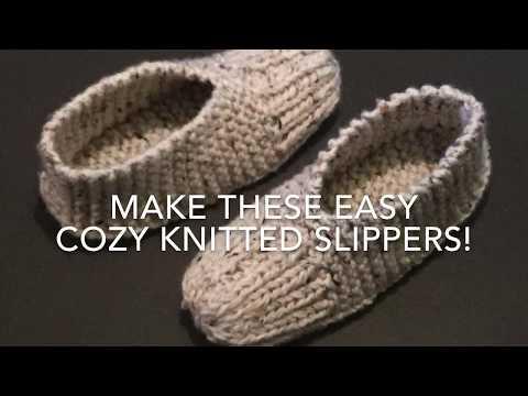 KNITTED SLIPPERS - EASY FOR BEGINNERS