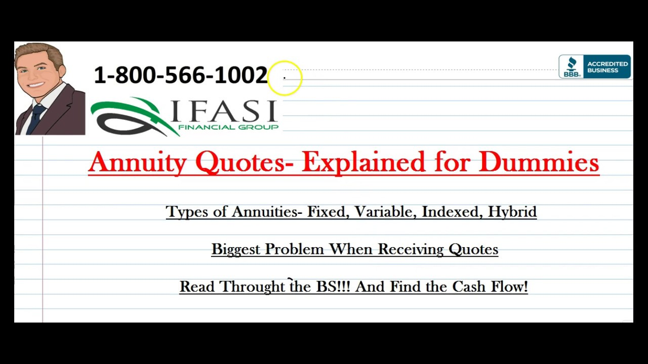 Annuity Quotes Annuity Quotes  How To Avoid Annuity Quote Scams  Yt