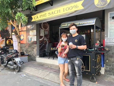Khai trương xe cafe pha máy mang đi tại Lyon 46 Dân Chủ, P. Tân Thành, Q. Tân Phú, TPHCM