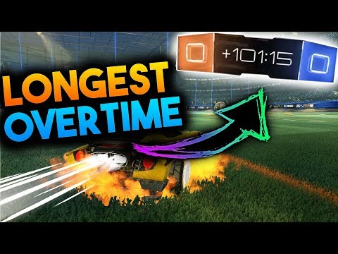 What Happens During A 100 Minute Overtime! | Longest Overtime To Exist In Rocket League! Mythbusters