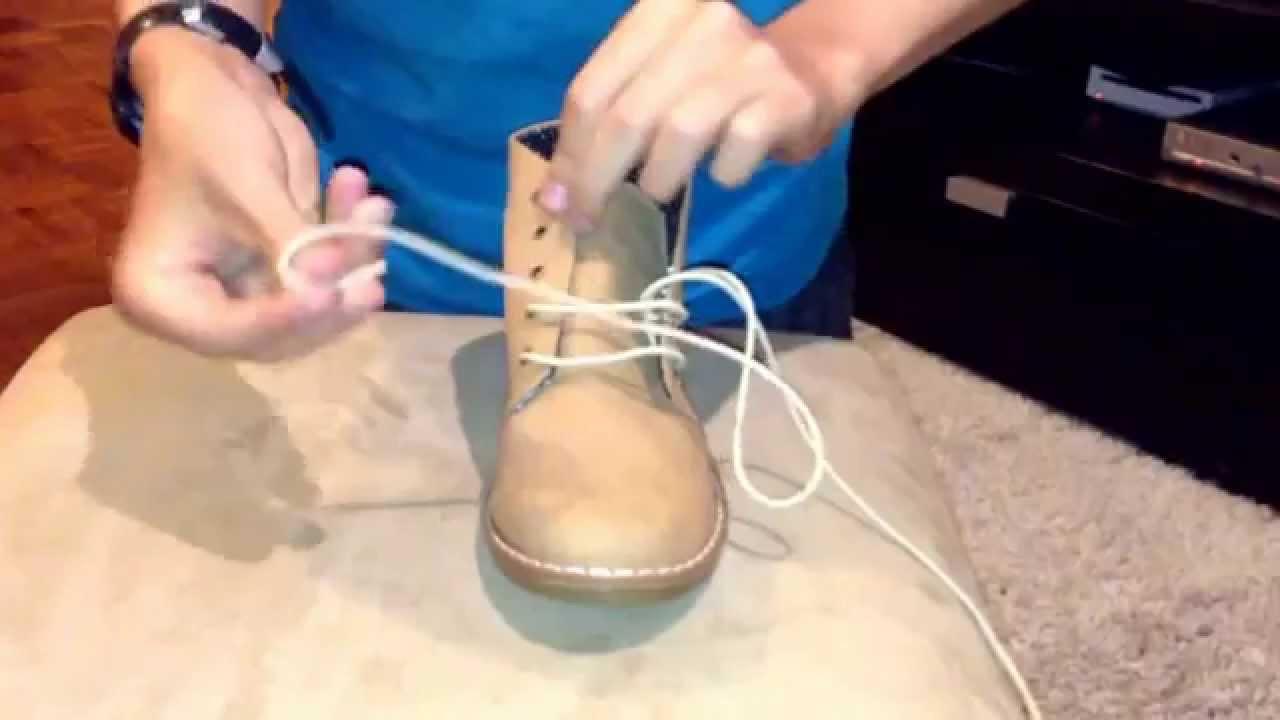 Cómo atar correctamente los cordones de las botas
