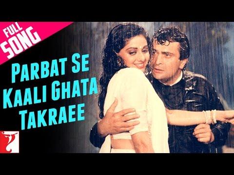 Parbat Se Kaali Ghata Takraee  Full Song  Chandni  Rishi  Sridevi  Asha Bhosle  Vinod Rathod