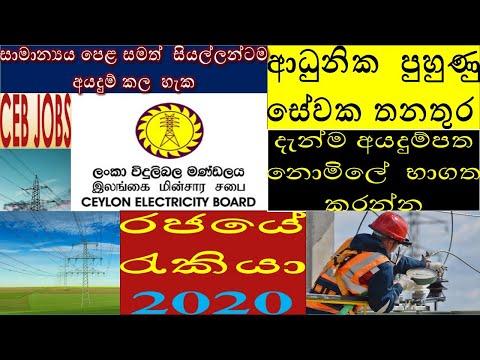 CEB Jobs | ලංවීම රැකියා | Ceylon Electricity Board Recruitment Application 2020