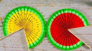 Cute Paper Pop Up Fans | DIY Watermelon Hand Fans | Paper Activities