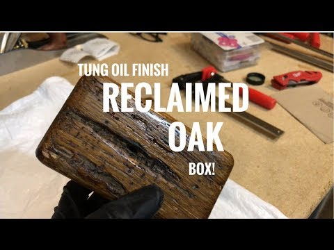 WoodShaped - LIVE! (Almost) - Reclaimed Oak Box & Tung Oil finish! Must Watch
