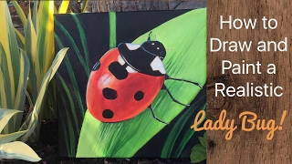 Lady Bug Acrylic Painting - By Artist, Andrea Kirk | The Art Chik
