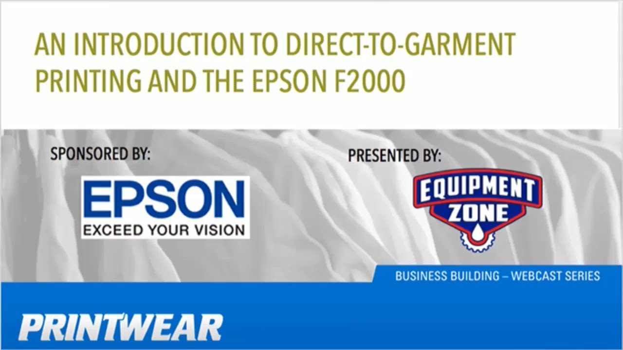 Epson F2000 DTG Printer - Direct To Garment Source