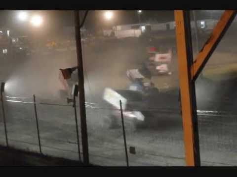 Sprint Cars of New England at Canaan Dirt Speedway 7-15-11