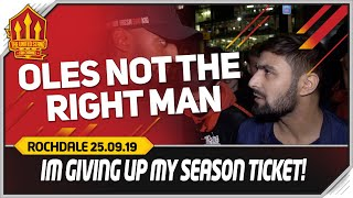 SOLSKJAER WILL GO! Manchester United 1-1 Rochdale Fancam