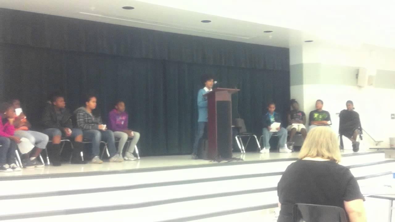 speech at kimball elementary school Tampa, Fl