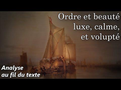 """Baudelaire, Les Fleurs du Mal - """"L'Invitation au Voyage"""" (Commentaire analyse littéraire)"""