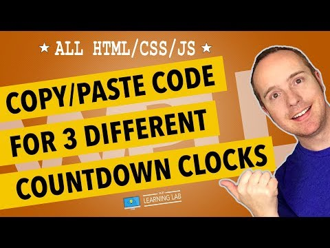 3 WordPress Countdown Clock Designs Without A Plugin - Codepen in