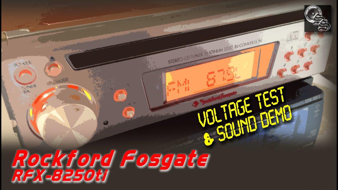 Rockford Fosgate Audiophile Head Unit Tested Rfx 8250