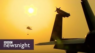 Life on US aircraft carrier leading the fight against IS - BBC Newsnight