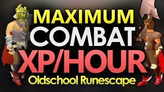 [OSRS] Highest AFK Combat XP/Hour (Max Bonuses & 1HP Dharok's)