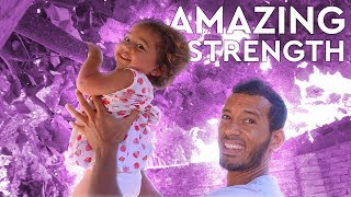 Toddler AMAZES Dad With INSANE STRENGTH (22 Months Old Pull Up Challenge)