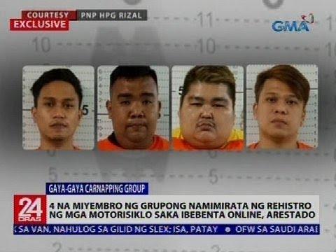 24 Oras: 4 na miyembro ng grupong namimirata ng rehistro ng mga motorisiklo saka ibebenta, arestado