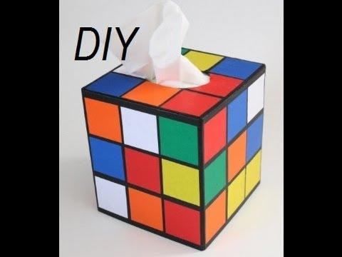 DIY: Rubik's Cube Tissue Box | Recycle Your Shoebox