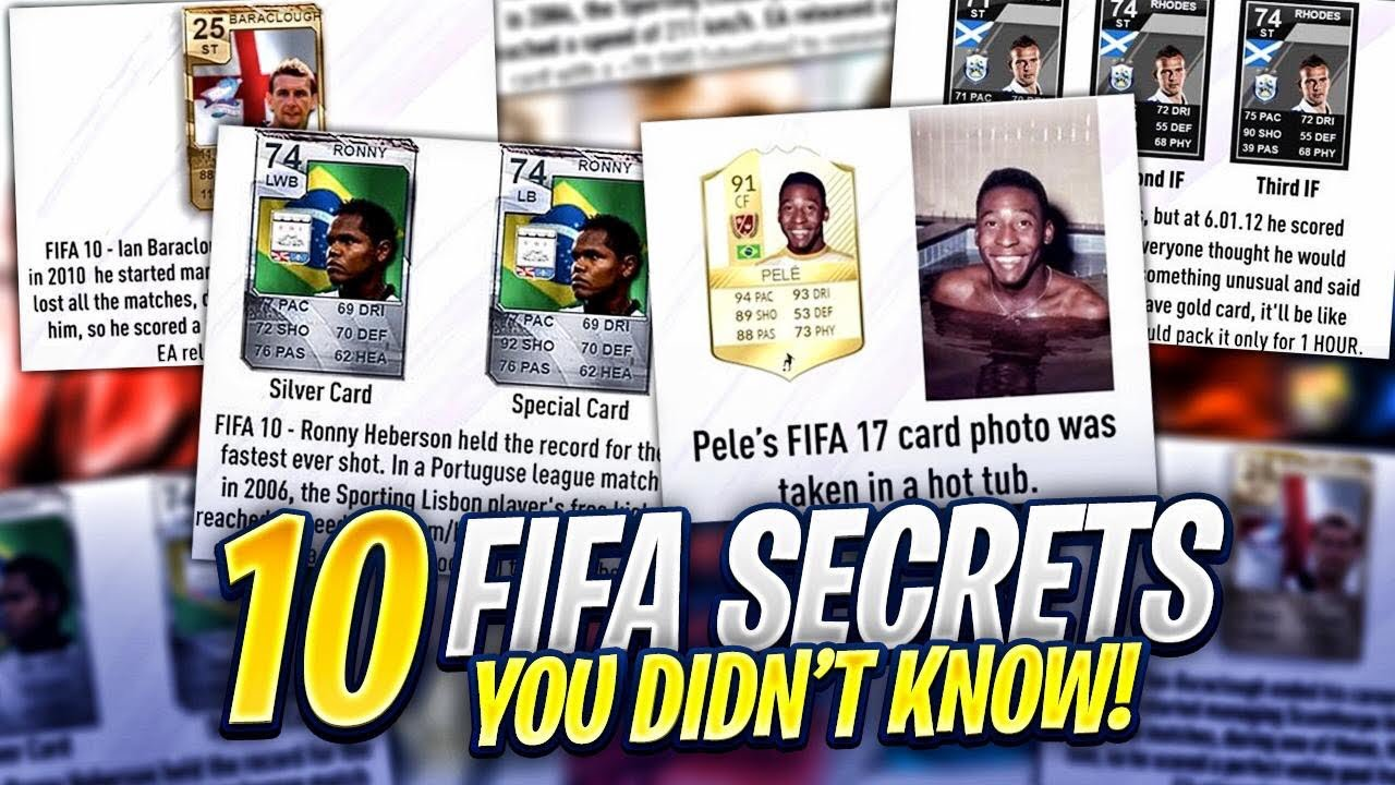 10 FIFA SECRETS YOU DIDN'T KNOW! image