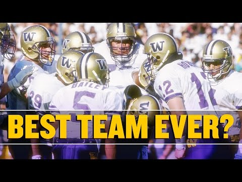Don't forget 1991 Washington when debating the best college football team ever