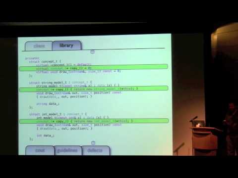 Sean Parent: Value Semantics and Concepts-based Polymorphism