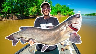 My FIRST TIME Bank Line Fishing for GIANT RIVER CATFISH!!!