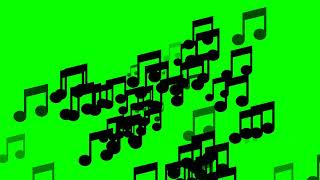 ⭐ music notes green  screen video 1080p