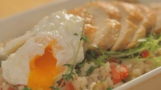 Рецепт салата с рисом и яйцом-пашот - Основной инстинкт. Выпуск 27.