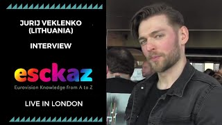 ESCKAZ in London: Interview with Jurij Veklenko (Lithuania at the Eurovision 2019)