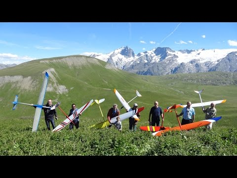 Baudis Skywalker And 6 Other RC Gliders Slope Soaring In Emparis