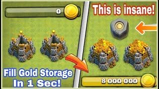 How I Filled 8,000,000 GOLD in just 1 Sec! This Is Insane | Clash of Clans HINDI