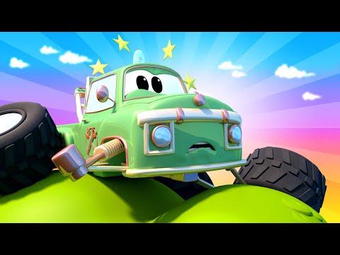 monster-town---moe-esta-atrapado-en-un-árbol-del-acantilado-|-dibujos-animados-para-niños
