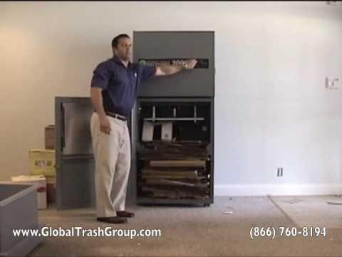 (866) 760-8194 Global Trash Solutions Trash Compactor Cardboard Baler