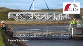 Frp Bridge Installation By Helicopter