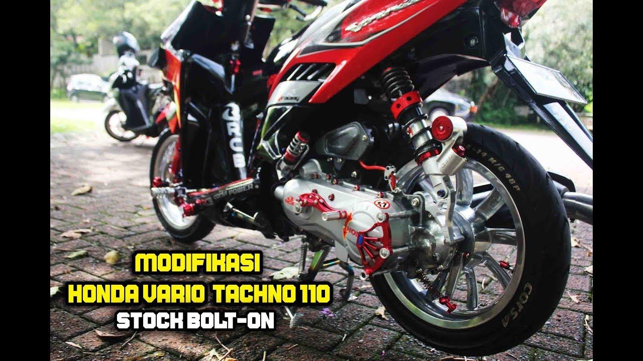 10 Modifikasi Vario Techno 110 Stock Bolt On Hmc Youtube