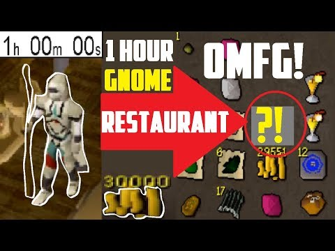 1 Hour GNOME RESTAURANT Minigame! THIS MAKES BANK! - Oldschool 2007 Runescape