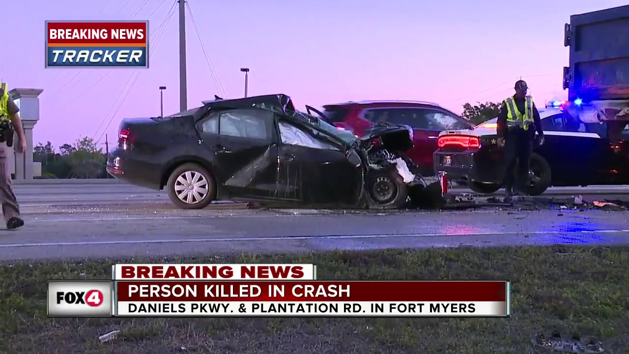 Fatal crash on Daniels Parkway Thursday morning