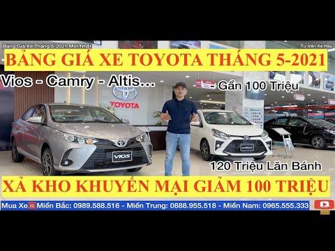 ✅Bảng Giá Xe Toyota Ngày 16 Tháng 5 Năm 2021 Cập Nhật Khuyến Mại Mới Nhất Hôm Nay Xả Kho Covid 19