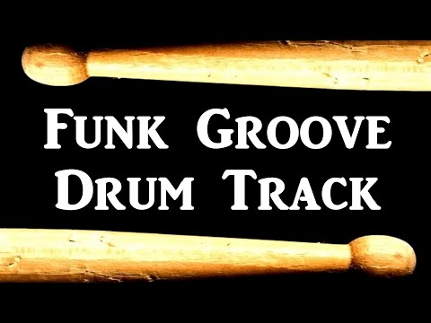 Drum beat 80 bpm slow groove funk bass guitar backing drumtrack.