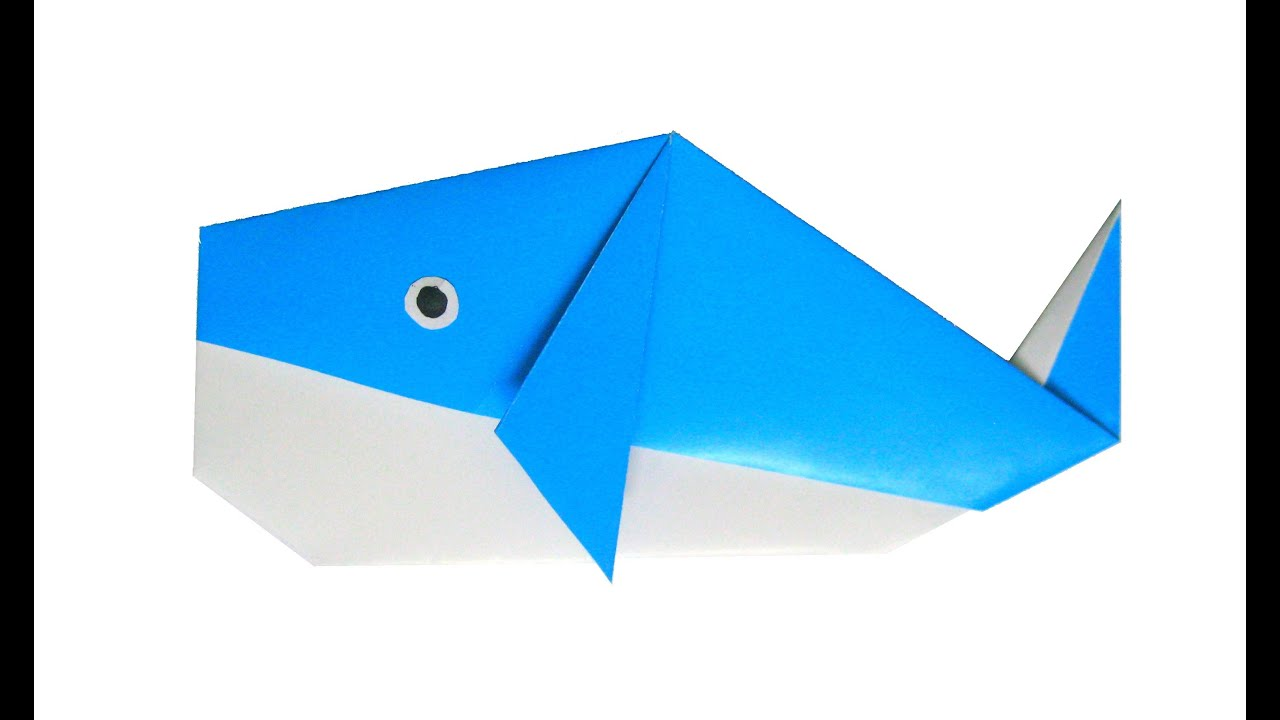 Easy Origami Blue Whale