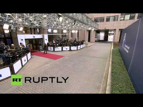 LIVE: European Council discuss refugee crisis and UK