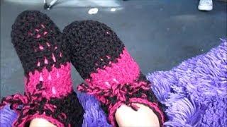 Repeat youtube video Como hacer pantunflas con gancho