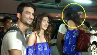 Kriti Sanon KISSES BF Sushant Singh Rajput At Mumbai Airport